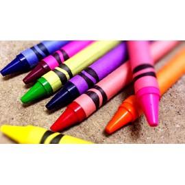 Retractable and wax crayons