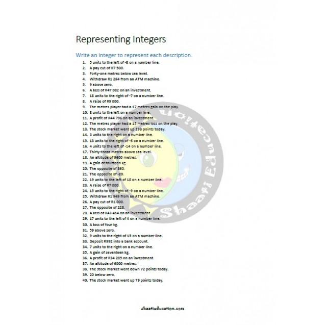 Representing Integers
